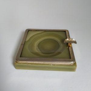 Vintage Asbak Marmer Groen