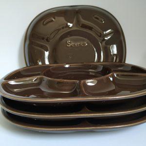 Vintage Fondue Gourmet Borden Sèvres