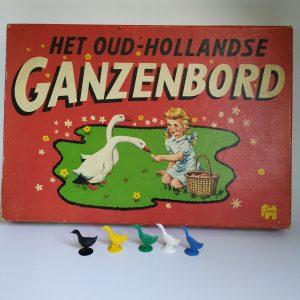 Vintage Het Oud Hollandse Ganzenbord