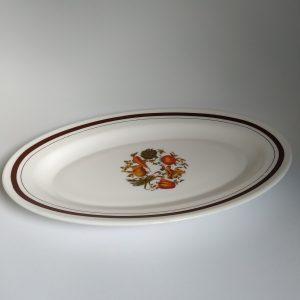 Vintage Ovale Schaal Arcopal Groenten Dessin