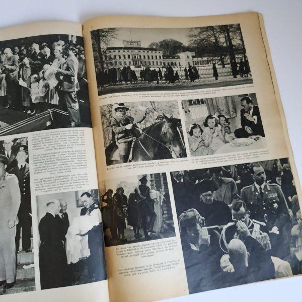 Gedenkalbum Juliana & Bernhard 12,5 jaar getrouwd – jaar 1949 softcover 36×25,5 cm (6)