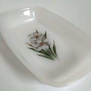 Vintage Schaaltje Arcopal France Witte Narcis
