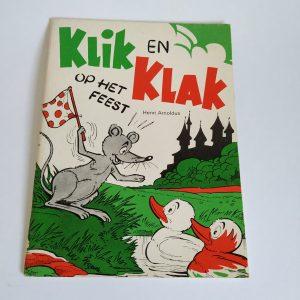 Vintage Kinderboek Klik en Klak op het Feest