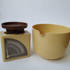 Vintage Keukenweegschaal met Kom tot 2 kg