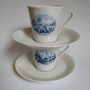 Vintage Koffie/Thee Kopjes Holland Bavaria Servies jaren 60