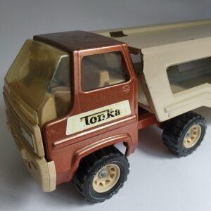 Grote Tonka metalen vintage Vrachtwagen met Oplegger