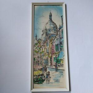 Vintage Inkt-Tekening Parijs Montmartre