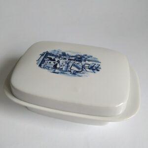 Vintage botervloot met Hollandse afbeelding (Betuwe)
