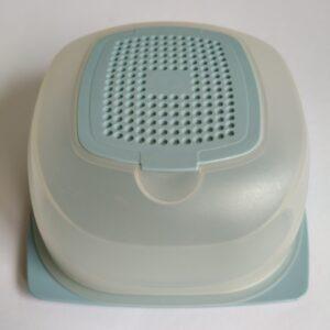 Kaasdoos van Tupperware licht blauw (mini)