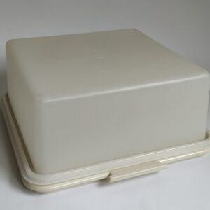 Vintage taartdoos / serveerschaal van Tupperware