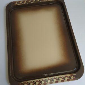 Vintage dienblad / serveerschaal in verschillende tinten beige/bruin