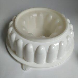 Vintage puddingvorm (tulband) met deksel van Tupperware